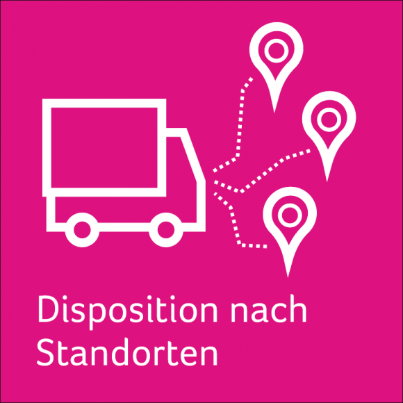 Disposition nach Standorten